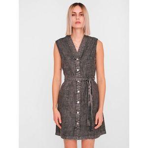 Tmavošedé rifľové košeľové šaty Noisy May Verita vyobraziť