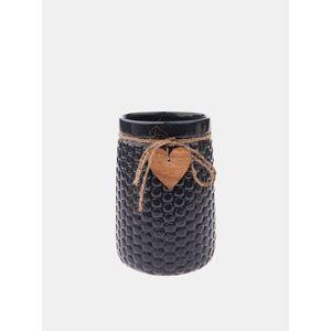 Čierna váza s ozdobou Dakls vyobraziť