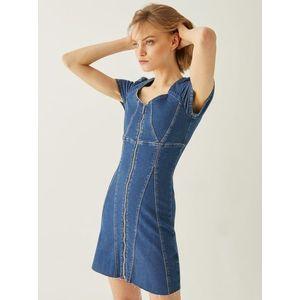 Modré rifľové šaty so zipsom TALLY WEiJL vyobraziť
