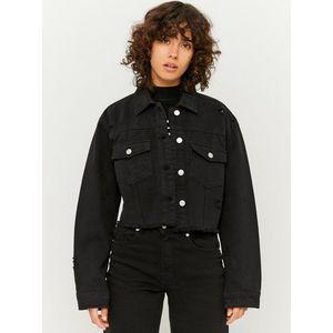Čierna krátka rifľová bunda TALLY WEiJL vyobraziť
