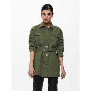 Zelená ľahká bunda s opaskom ONLY Milla vyobraziť