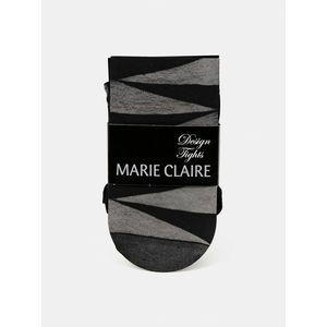 Čierne vzorované pančuchové nohavice Marie Claire vyobraziť