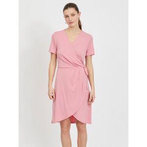 Letné a plážové šaty pre ženy VILA - ružová vyobraziť