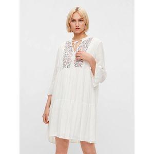 Letné a plážové šaty pre ženy Pieces - biela vyobraziť