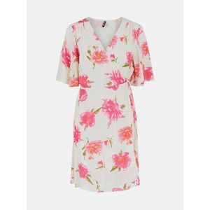 Letné a plážové šaty pre ženy Pieces - krémová vyobraziť