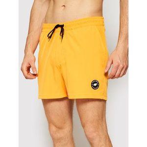4F Plážové šortky SKMT001 Oranžová Regular Fit vyobraziť