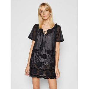 Banana Moon Plážové šaty Joan Birnam JPC01 Čierna Relaxed Fit vyobraziť