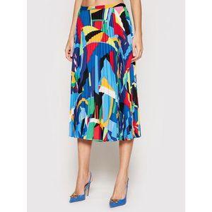 Lauren Ralph Lauren Plisovaná sukňa 200826624001 Modrá Regular Fit vyobraziť