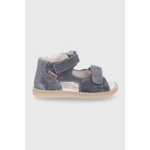 Mrugała - Detské semišové sandále vyobraziť