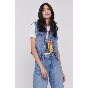 Pepe Jeans - Rifľová vesta Elsie vyobraziť