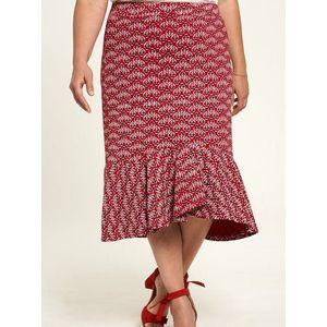 Červená kvetovaná sukňa Tranquillo vyobraziť
