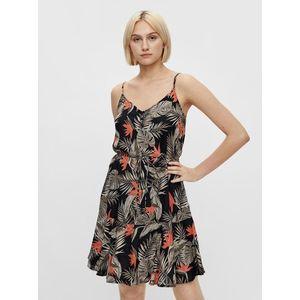 Letné a plážové šaty pre ženy Pieces - čierna, zelená vyobraziť