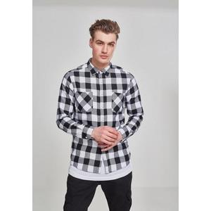 Pánska košeľa URBAN CLASSICS CHECKED FLANELL SHIRT blk/blk Veľkosť: L, Pohlavie: pánske vyobraziť