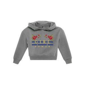 Detská mikina MR.TEE Kids Girl Power Cropped Hoody Farba: heather grey, Veľkosť: 134/140 vyobraziť