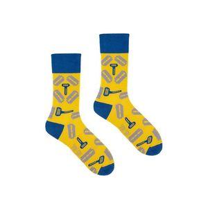 Žlto-modré ponožky Spox Sox Razor Blades vyobraziť