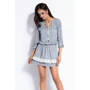 Sivo-modré šaty Vibi vyobraziť