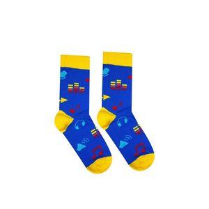 Modro-žlté ponožky Hudobník vyobraziť