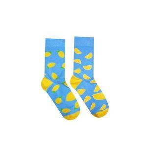 Žlto-modré ponožky Citrón vyobraziť