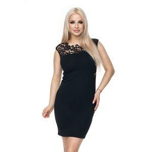 Čierne čipkované šaty 0108 vyobraziť