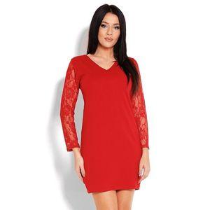 Červené čipkované šaty 1457 vyobraziť