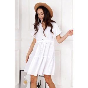 Biele šaty M84040 vyobraziť