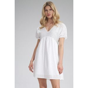 Biele šaty M763 vyobraziť