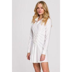 Biele krátke šaty K094 vyobraziť