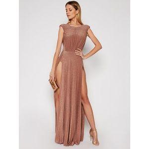 Elisabetta Franchi Večerné šaty AB-052-11E2-V560 Ružová Loose Fit vyobraziť