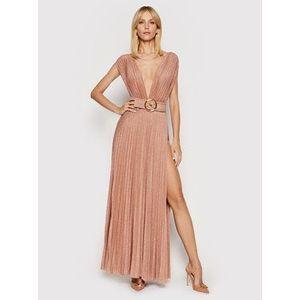 Elisabetta Franchi Večerné šaty AB-149-13E2-V460 Zlatá Regular Fit vyobraziť