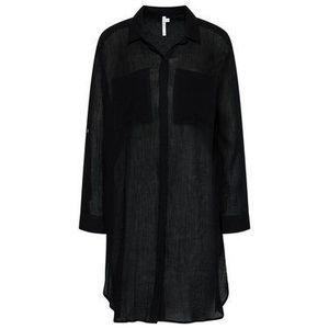 Seafolly Plážové šaty Crinkle Twill Beach Shirt 53108-CU Čierna Regular Fit vyobraziť