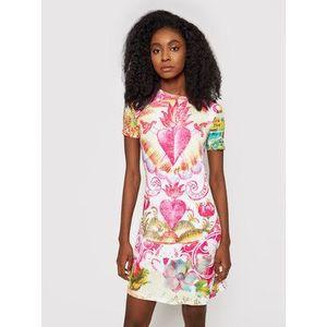 Desigual Letné šaty 21SWVKB9 Farebná Slim Fit vyobraziť