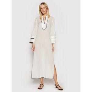 Tory Burch Plážové šaty Color-Blocked 84553 Biela Regular Fit vyobraziť