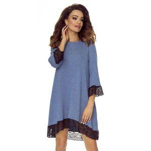 Modré šaty M53610 vyobraziť