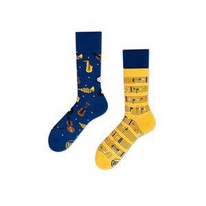 Modro-žlté ponožky Music Notes vyobraziť