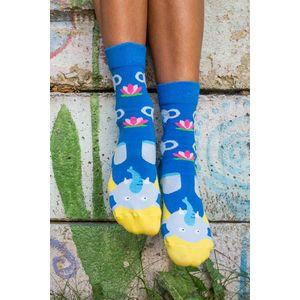 Žlto-modré ponožky Sloníky vyobraziť