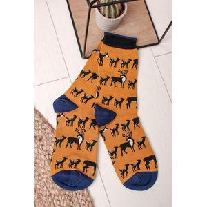 Modro-žlté ponožky Animal Kin Socks vyobraziť