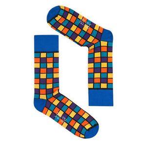 Unisex modro-žlté ponožky Spox Sox Rubiks cube vyobraziť