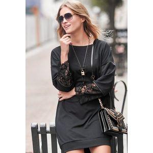 Čierne šaty NU236 vyobraziť