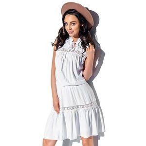 Biele šaty L333 vyobraziť