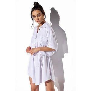 Biele košeľové šaty L338 vyobraziť