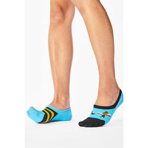 Modro-žlté balerínkové ponožky Bee Bee Noshow vyobraziť