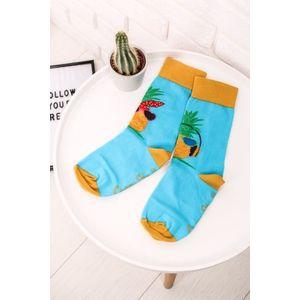 Žlto-modré ponožky Ananás vyobraziť