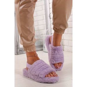 Svetlofialové plyšové sandále Cindy vyobraziť