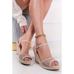 Béžové platformové sandále Candace vyobraziť