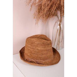 Škoricový slamený klobúk Adria vyobraziť
