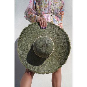 Zelený slamený klobúk Maeve vyobraziť