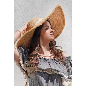Škoricový slamený klobúk Maeve vyobraziť