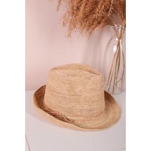 Béžový slamený klobúk Adria vyobraziť