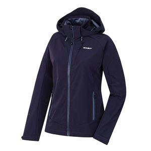 Women's softshell jacket Senna L black-violet vyobraziť