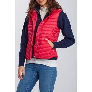 Červená zimná bunda/vesta vyobraziť